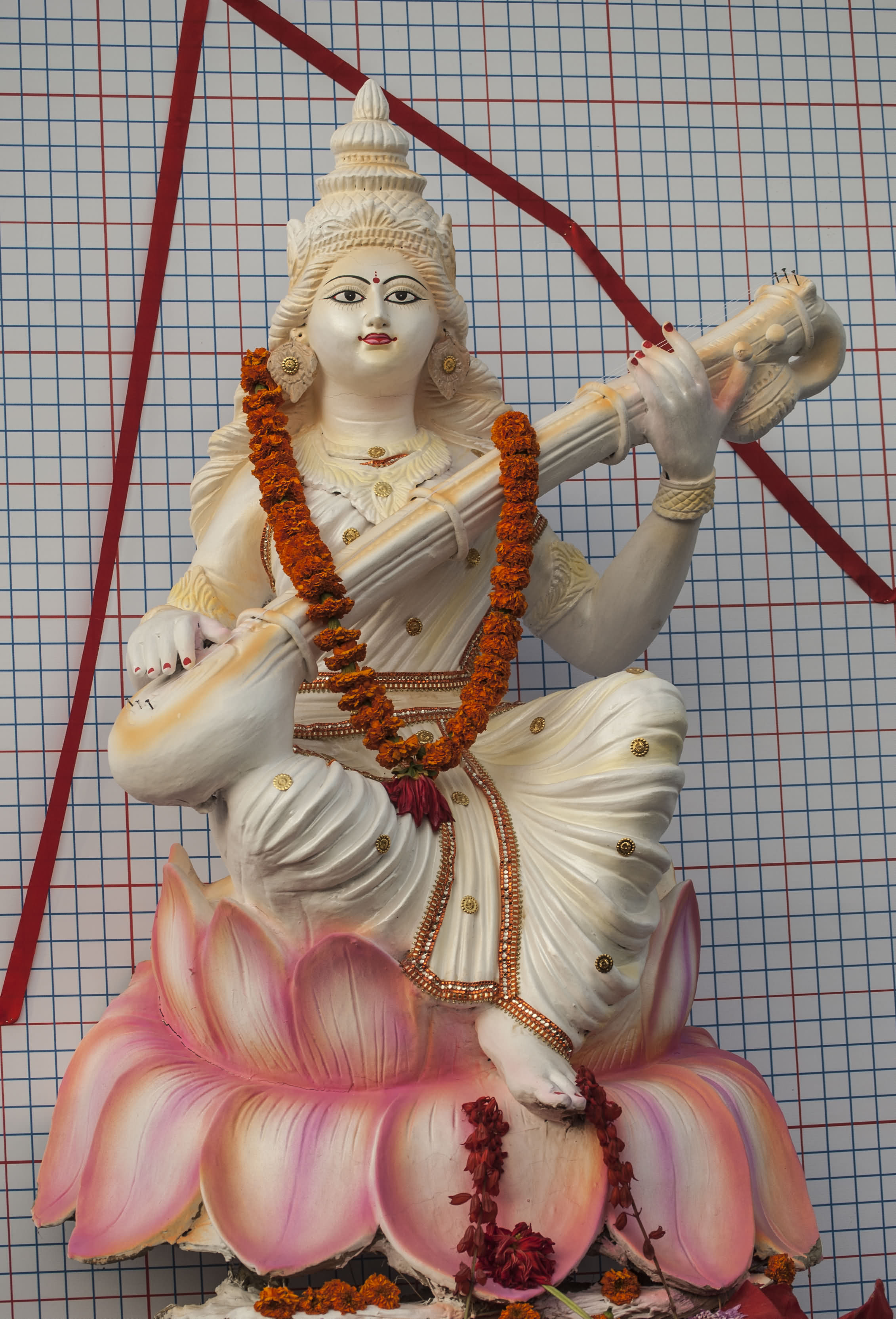 Saraswati Devi Is A Hindu Goddess Of Knowledge, Wisdom And ...