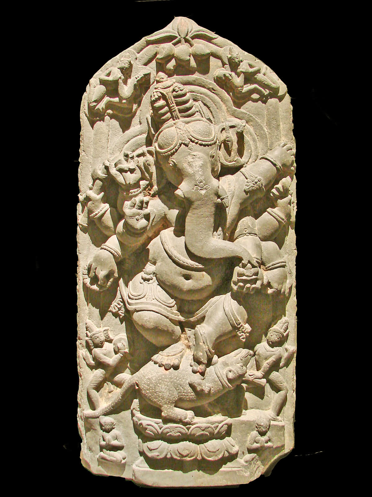 Lord Ganesh (Ganesh) Dancing Northern Bengal, 11th Century Jcmusée Asian Art In Berlin (Dahlem)