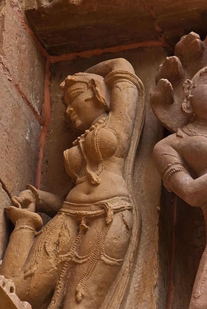 Carving Of Dancing Woman At Lakshmana Temple In Khajuraho