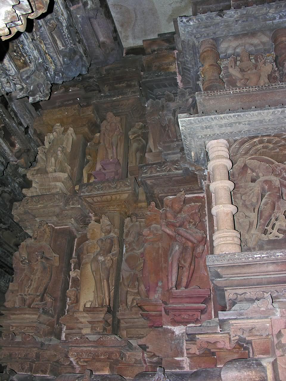 Intricate stone carvings of th century in kandariya