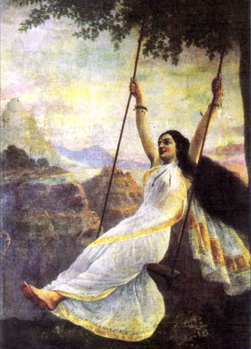 Mohini On A Swing
