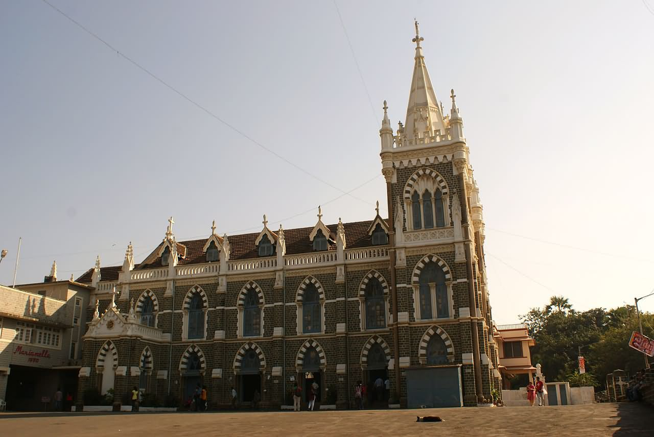 Statue Of Mother Mary Outside Mount Mary Church At Bandra