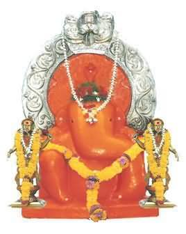 Ganesha Idol In Shree Siddhivinayak Mayureshwar Dhyaan Mandir, Dombivali