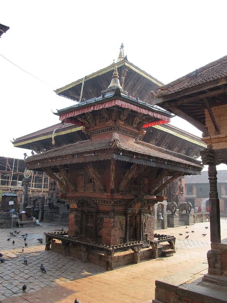 Smaller Temple Next To The Vishnu Temple At Nepal's Oldest Temple Site In The North-Eastern Kathmandu Valley, Nepal