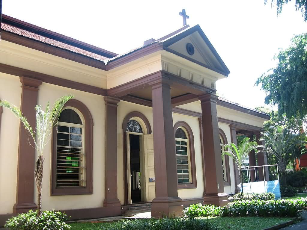 Front View Of Cathedral Of The Good Shepherd At Singapore