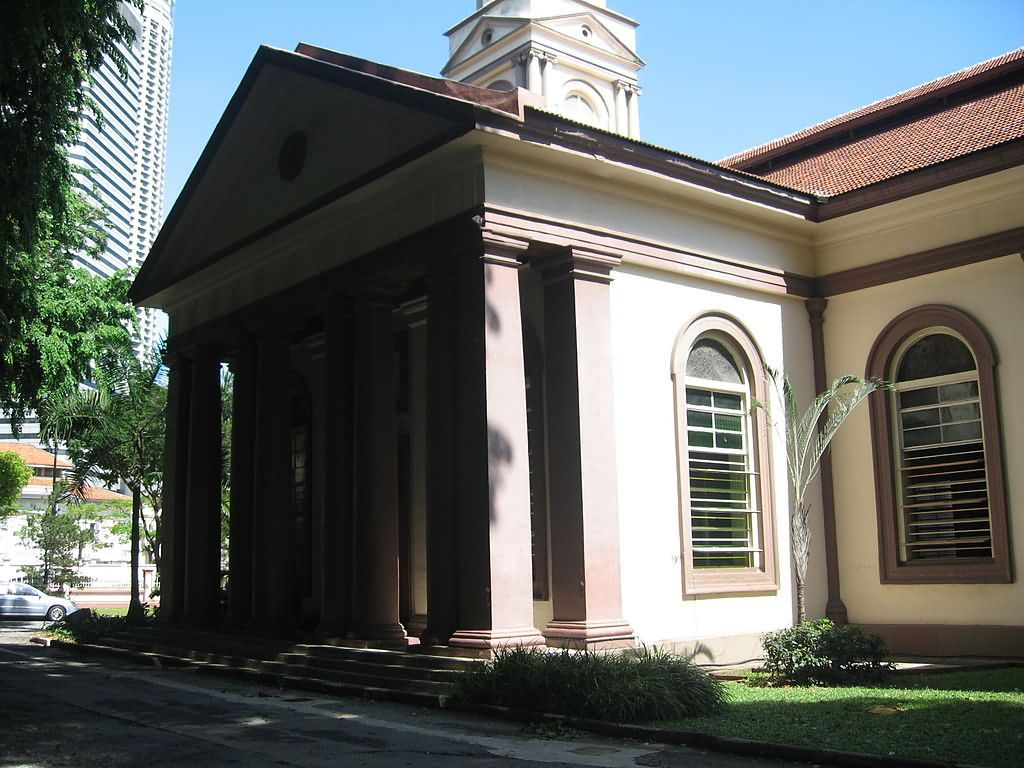 Corner View Of Cathedral Of The Good Shepherd At Singapore