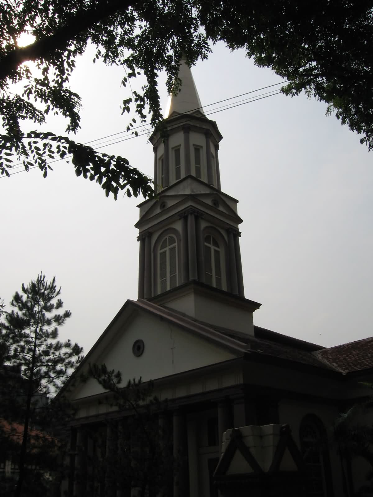 View Of The Steeple Of The Cathedral, Singapore