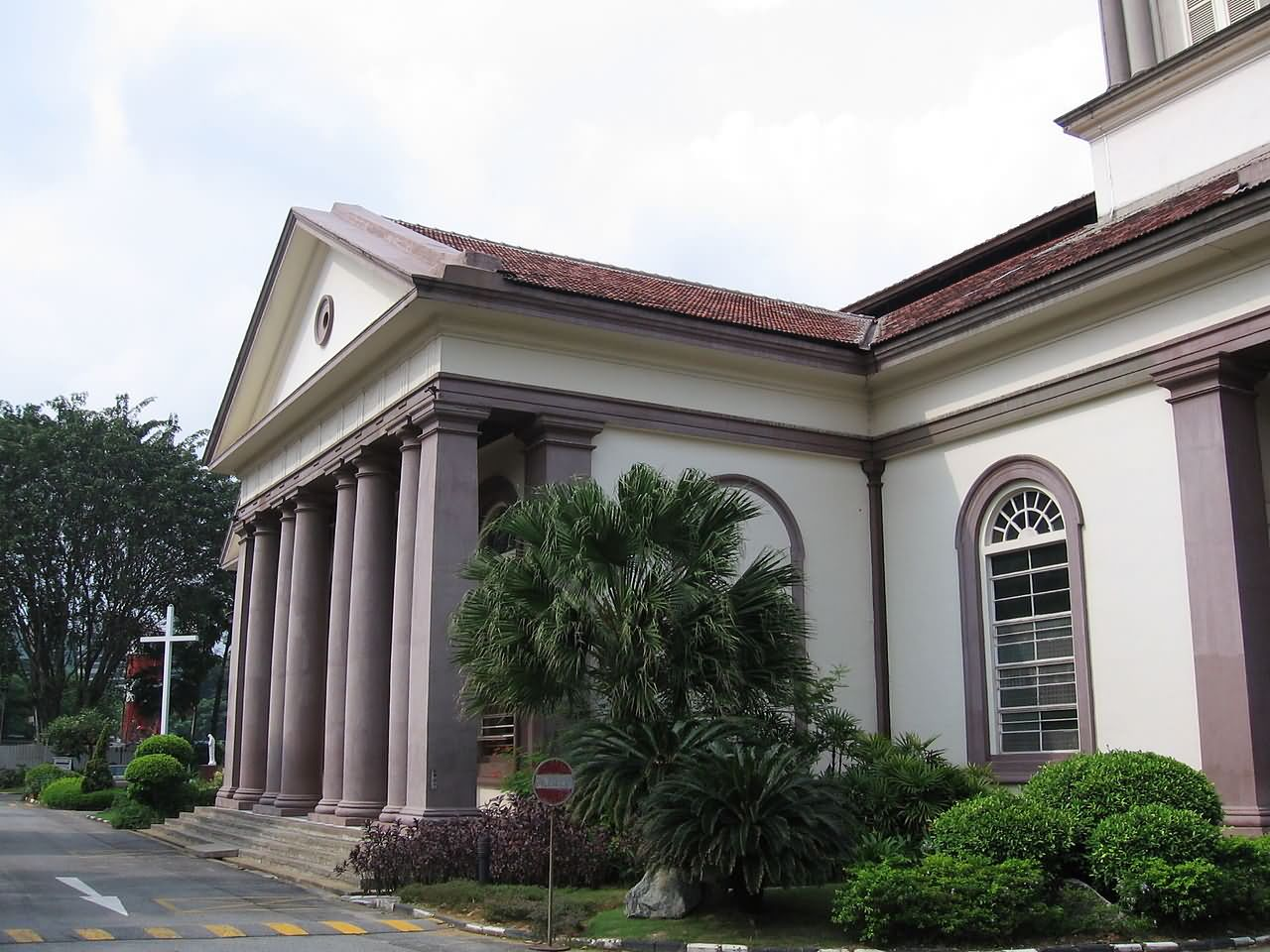 Cathedral Of The Good Shepherd Entrance At The South Transept, Singapore