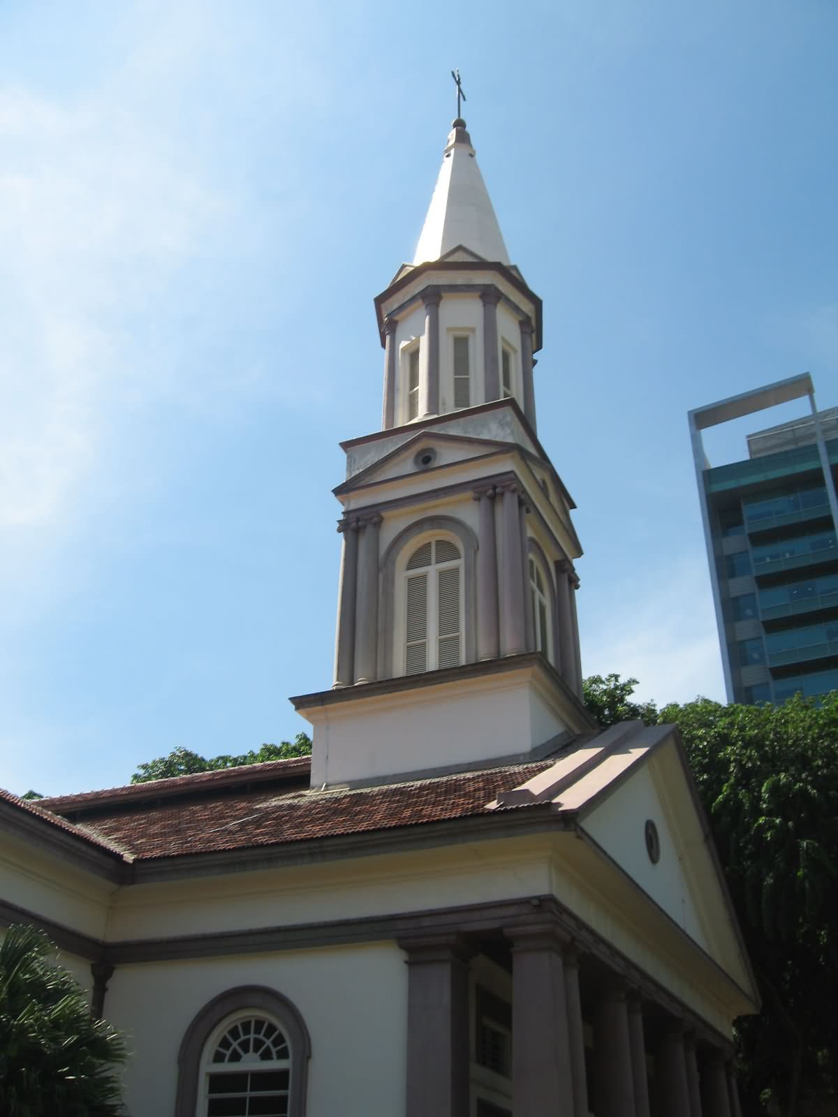 Steeple Of Cathedral Of The Good Shepherd At Singapore