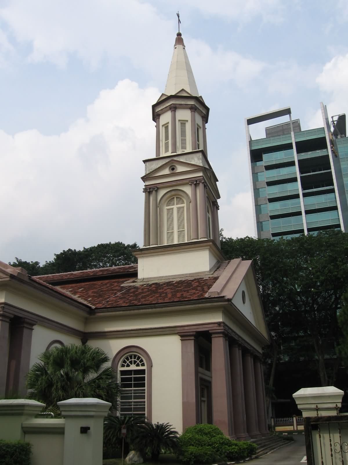 Full View Of The Steeple Of The Cathedral, Singapore