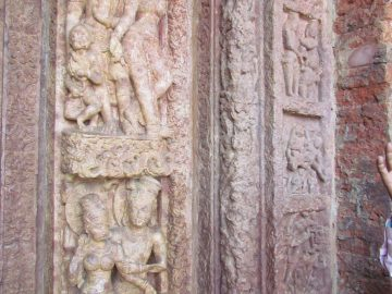 Sculpture At Laxman Mandir, Sirpur, Chhattisgarh