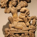 Shiva and Parvati with their children kartikeya and ganesha