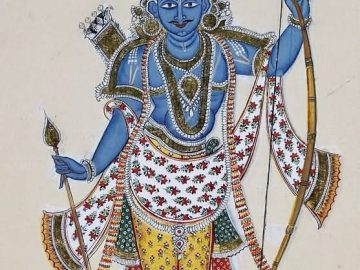 Painting of Lord Rama With Arrows