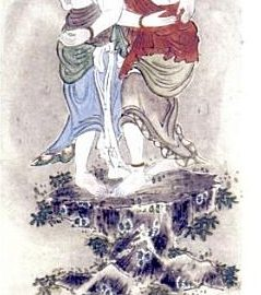The Embracing Kangiten Depicted As An Elephant - Headed Male - Female Human Couple Standing In An Embrace